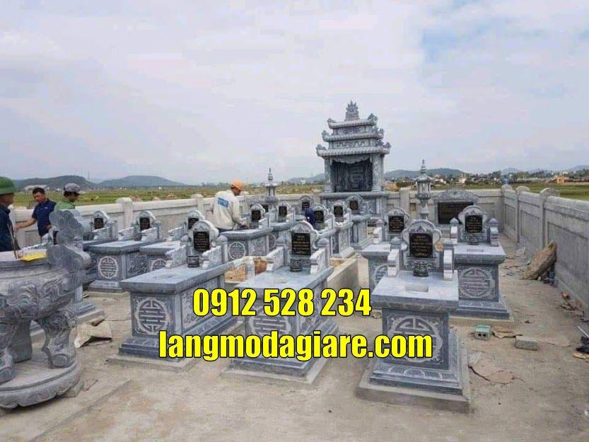 Mẫu lăng mộ đẹp bằng đá tại Hải Dương khu mộ gia đình tại Hải Dương