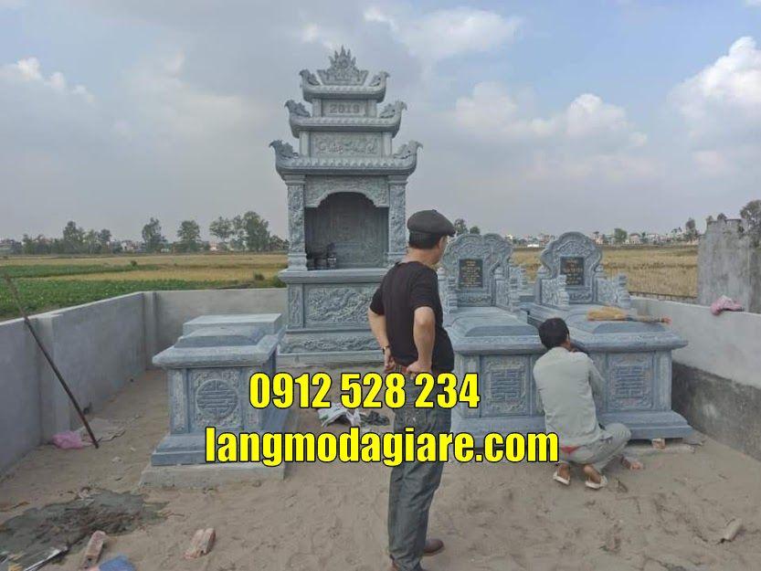 Mẫu lăng mộ hiện đại bằng đá xanh  tự nhiên bán tại Vĩnh Phúc