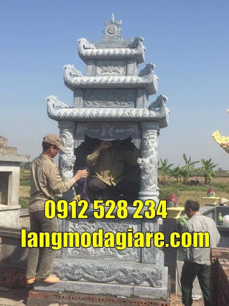 Mẫu mộ đá đẹp thờ hũ cốt tại An Giang mộ bằng đá tại An Giang