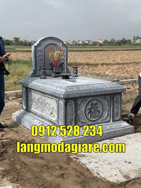Mẫu mộ đá đẹp thờ hũ cốt tại Bạc Liêu mộ đẹp