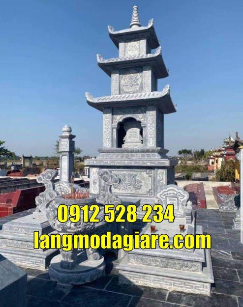 Mẫu tháp mộ đẹp thờ hũ cốt tại Bạc Liêu
