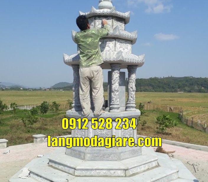 Mẫu tháp mộ lục giác cất tro cốt tại An Giang