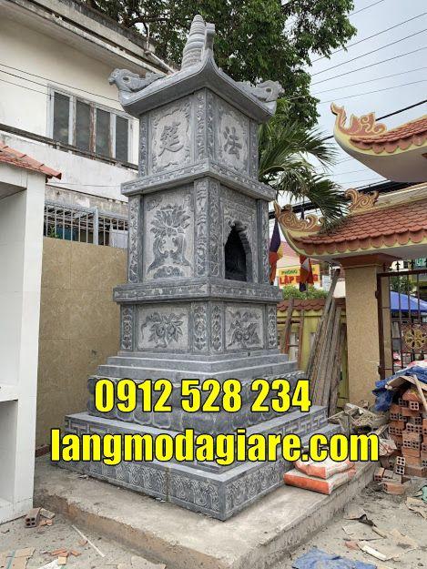 Tháp mộ thờ hũ cốt bằng đá tự nhiên tại Đồng Tháp