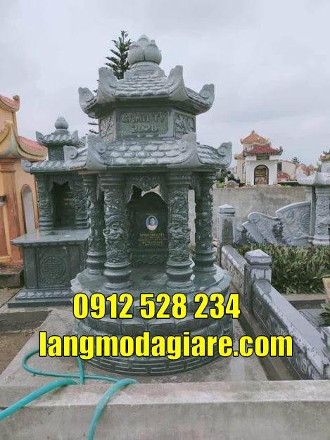 lăng mộ tháp đẹp bằng đá xanh rêu