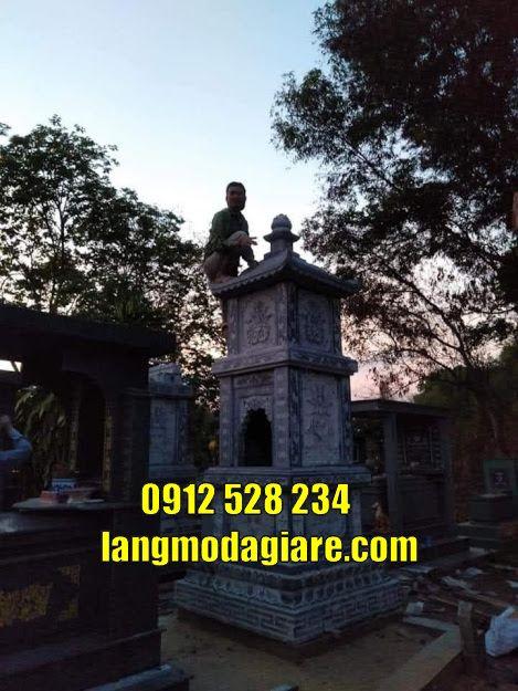 tháp mộ sư- mẫu tháp mộ sư đẹp bằng đá tự nhiên trạm khắc tinh tế