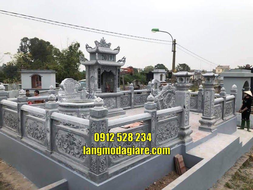 Khu lăng mộ bằng đá đẹp thờ hũ tro cốt bán tại Vĩnh Long