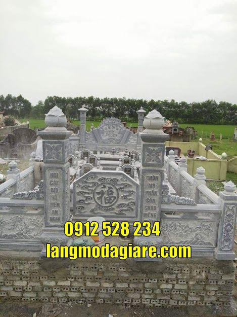 Lăng mộ đá đẹp thờ tro cốt tại Tiền Giang