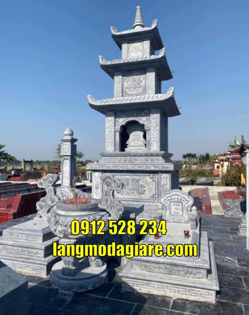 Mẫu bảo tháp đẹp cất hũ cốt tại Long An