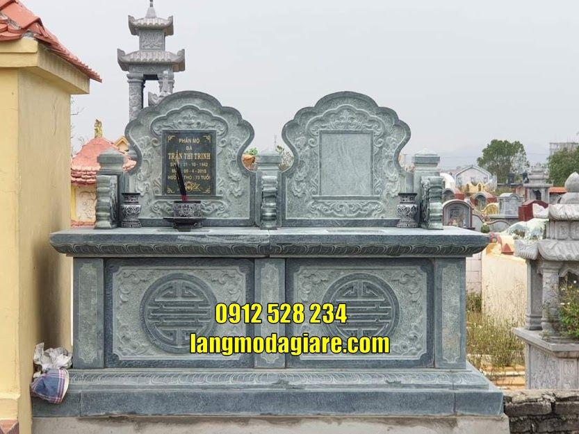 Mẫu mộ đá đẹp thờ tro cốt bán tại Tiền Giang