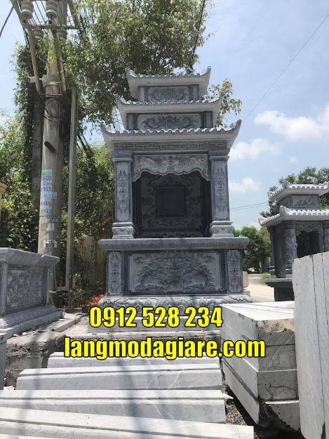 Mẫu mộ đẹp thờ hũ cốt chuẩn phong thủy bán tại tại Long An Mộ đá