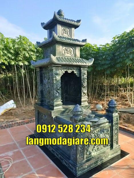 Mẫu mộ đẹp thờ hũ tro cốt tại Vĩnh Long Mộ đá tại Vĩnh Long