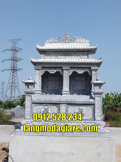 Mẫu mộ đôi đá đẹp thờ hũ tro cốt tại Vĩnh Long