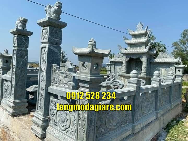 Mẫu nhà mồ đẹp thờ hũ cốt tại Kiên Giang Mộ đá cất tro cốt tại Kiên Giang