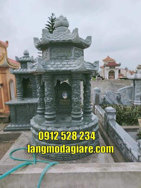 Mẫu tháp chuông đẹp thờ hũ cốt bằng đá tại Trà Vinh