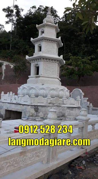 Mẫu tháp mộ lục giác cất tro cốt bằng đá tại Trà Vinh