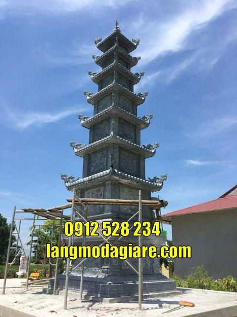 Mộ tháp thờ hũ tro cốt tại Kiên Giang