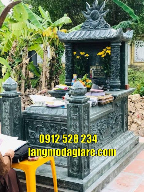 Tổng hợp 15 mẫu mộ đẹp thờ hũ tro cốt bằng đá bán tại Trà Vinh