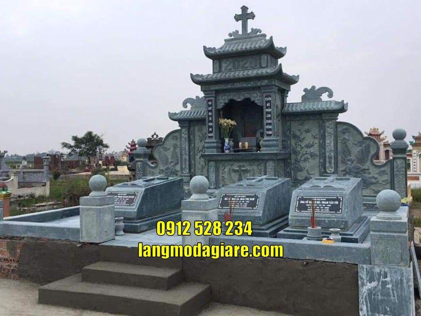 5 Mẫu mộ thiên chúa giáo đẹp bằng đá trạm khắc tinh tế